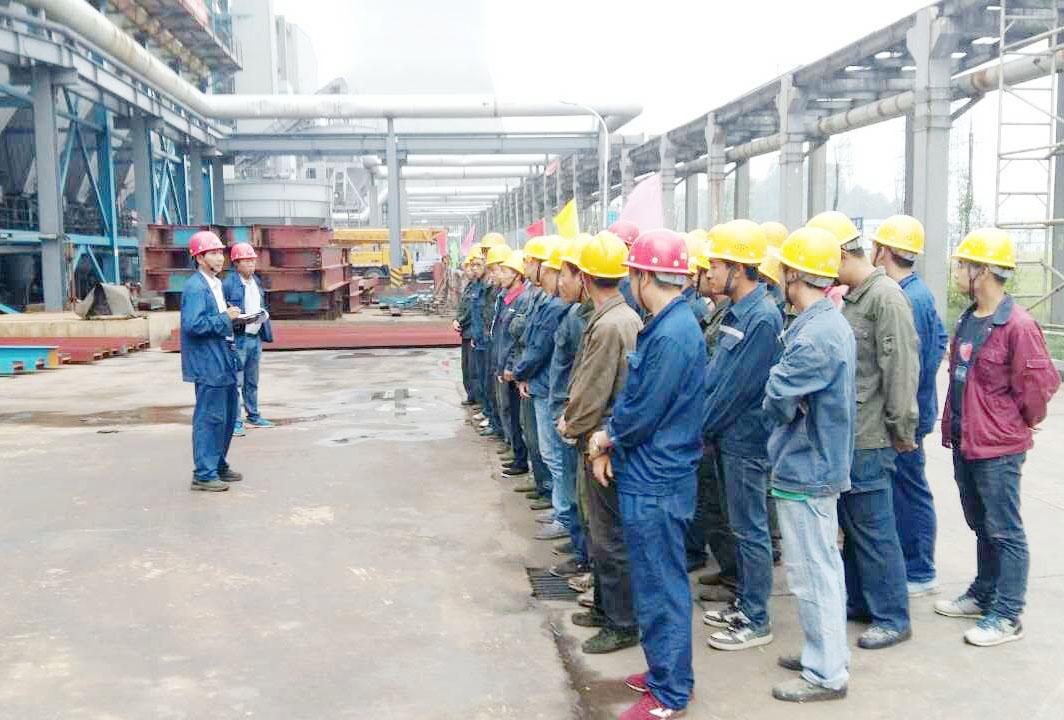 2016年贵州福泉电厂2×660MW超临界凝气式燃煤发电机组降温余热利用改造EPC项目的早班会